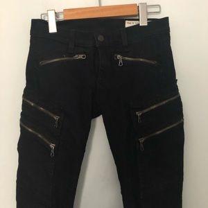 Rag&bone zippered skinny jeans